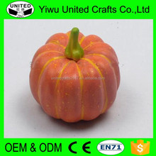 Halloween Decorative Craft Wholesale faux Vegetables Artificial foam White Pumpkin
