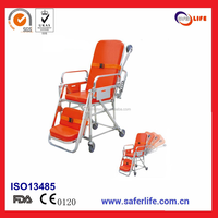 2017 High Quality Converted To Chair Adjustable Angle For Ambulance Car Emergency Automatic Loading Stretcher