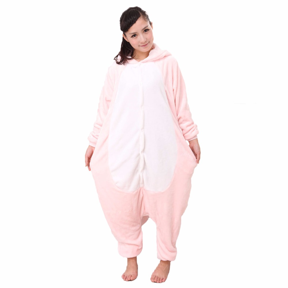 Adults Animal Pajamas Dinosaur Pink Kigurumi Pajamas Costumes