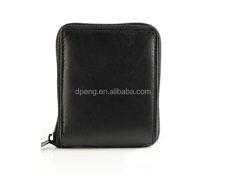 2017 NEW Soft Leather Zipped men's wallet ,high quality credit card holder