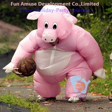cheap Halloween airblown inflatable pig costume
