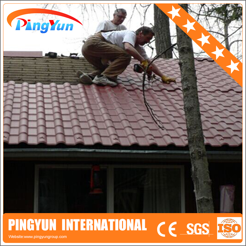 Synthetic Resin Roofing Tile/UV protect PVC Roof Tile/corrugated PVC Roofing Sheet 1050mm