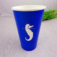 12oz Eco-friendly Disposable Color Printed Cold Drink Paper Cup