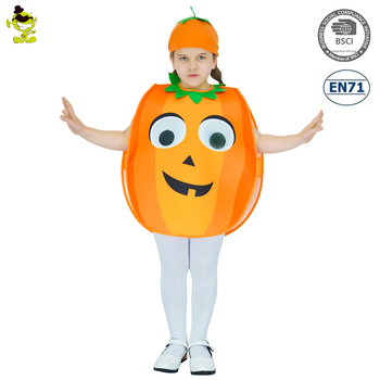 Kids cute pumpkin costume cartoon food macot costumes for girls cosplay
