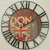Retro Metal Clock with Roma Number