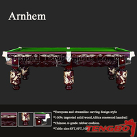 High-end level quality Special design TB-CS061 carved dragon billiard pool table