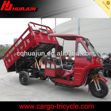 Hydraulic self dumping 3 wheeled motorcycle