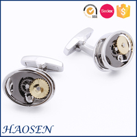 2016 wholesale cheap watch movement mechanism cufflinks