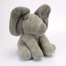 Peek A Boo Electronic Animals Toy Stuffed Animals & Plush Toy Elephant, Singing Baby Music Toys For Christmas Gift