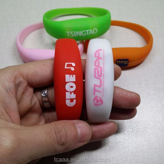High quality colorful motion sensor led silicone bracelet