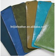 Oil wax PU leather used of sofa ,furnitures faux pu leather with soft hand feelings and competitive price