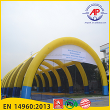 Guangzhou Airpark New Products Colorful Inflatable Air-sealed Dome Tent , Arch Lawn Tent For Sale