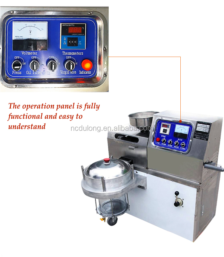 Best quality guarantee 15-20kg material /hour small cold oil press machine