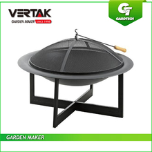 EN1860 Approved Iron Outdoor Table Firepit, 30 Inch Plated Patio Fire Pit,Electroplating Outdoor Living