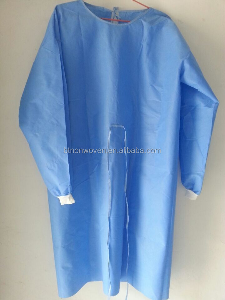 High Quality Protection GownMedical non woven disposable surgical gown/work coverall/suit