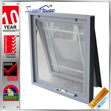 AS2047 newly design aluminum double glass chain wider awning window with flynet and spacer