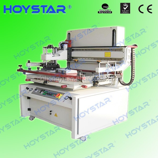 Semi automatic glass silkscreen printing machine with vacuum table