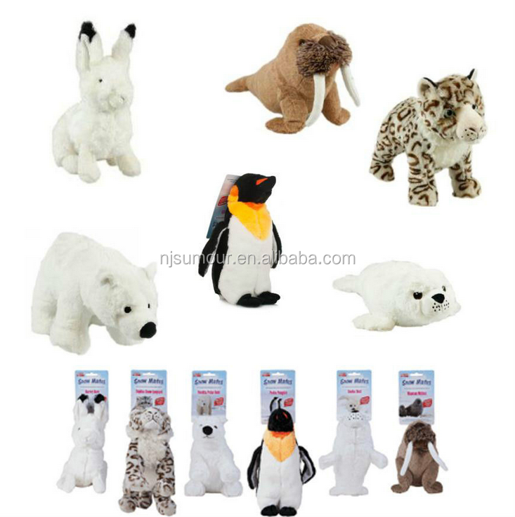 Animal Instincts Snow Mates Plush Squeaky Squeaking Soft Cute Dog Puppy Play Toy