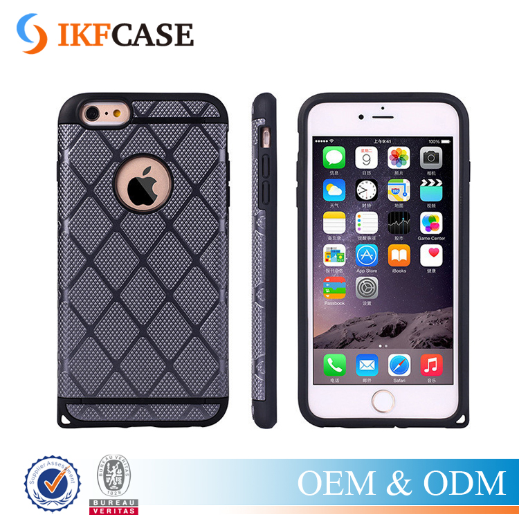 Hard Armor TPU + PC Hybrid Tough Phone Cases For Apple iPhone 6 6S Logo hole Silicone Back Cover Rubber Protective Bag