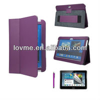 Purple Strap Leather Case Cover Stand For Samsung Galaxy Note 10.1 inch N8000 N8010