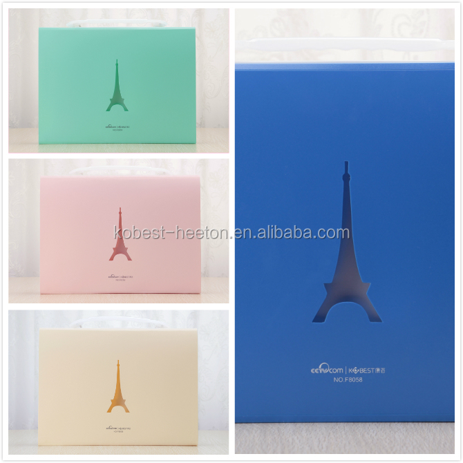 2016 High quality customized Colorful Printed pp presentation folder