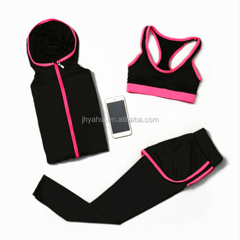 Girls sportswear fitness yoga clothes set