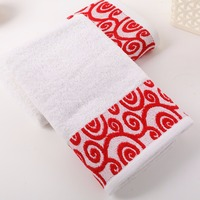 China factory 100% cotton embroidered custom logo satin bath towel