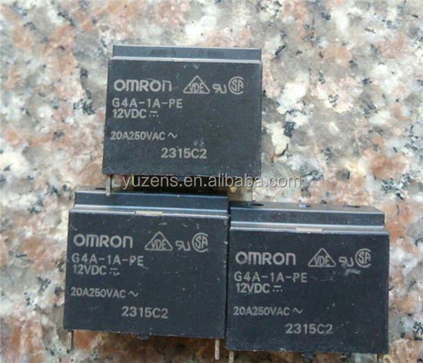 Power Relays, Over 2 Amps G4A-1A-PE DC12 RELAY GEN PURPOSE SPST 20A 12V