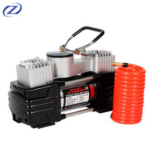 12V Safe, High Quality and Durable Portable Double Cylinder Metal Tyre Inflator Air Tire Compressor
