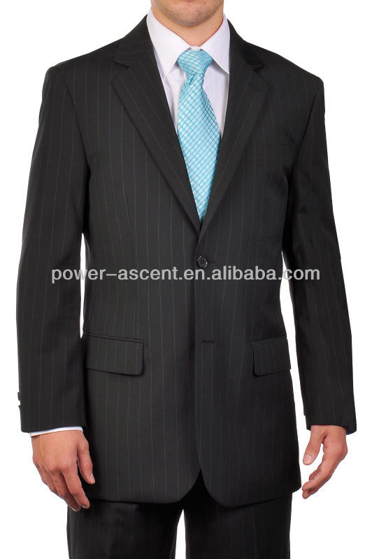 Newest Black Pinstripe Men's Suit