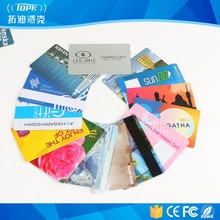 Contactless pvc smart id with chip rfid hotel key card