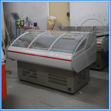 Lift up curved glass decommercial refrigeration machine / commercial freezer / commercial refrigerator