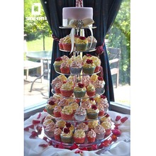 Personalized 5 / 6 / 7 Tiers Acrylic Wedding Cake / Cupcake Stand , Provide Free Design