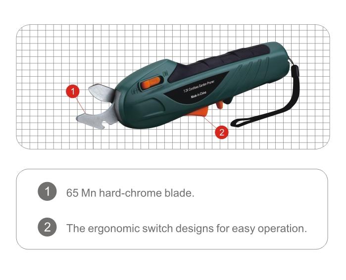 Cordless light weight electric pruning tool garden for Lightweight garden tools