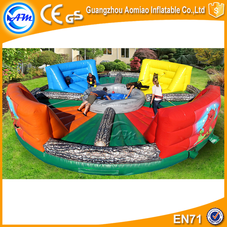 Hippo Chow Down Inflatable Huaman Sports Game Inflatable Hungry Bungee Running Sport Game