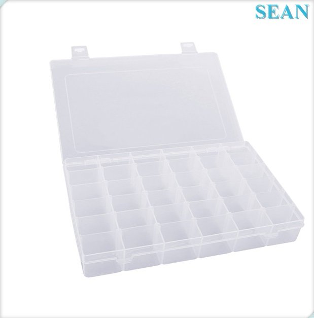 Transparent PP material Plastic DIY Nail Art Storage Box Small Accessories Box