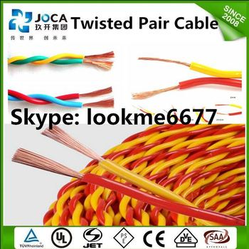 2 core pvc twisted cable 2x10mm equipment copper wire cable, View ...