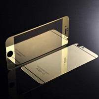 Electroplating Mirror screen protector full cover tempered glass screen protector for iPhone