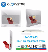 Shopping mall transparent LCD advertising display touch screen led commercial advertising display