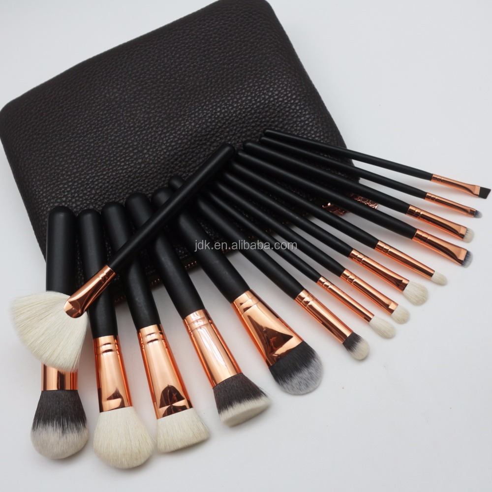 15 Piece Professional Custom Logo Makeup Brushes Private Label Cosmetic Brush Set