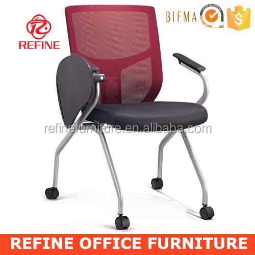 movable meeting chair conference folding chair writing tablet RF-T002C