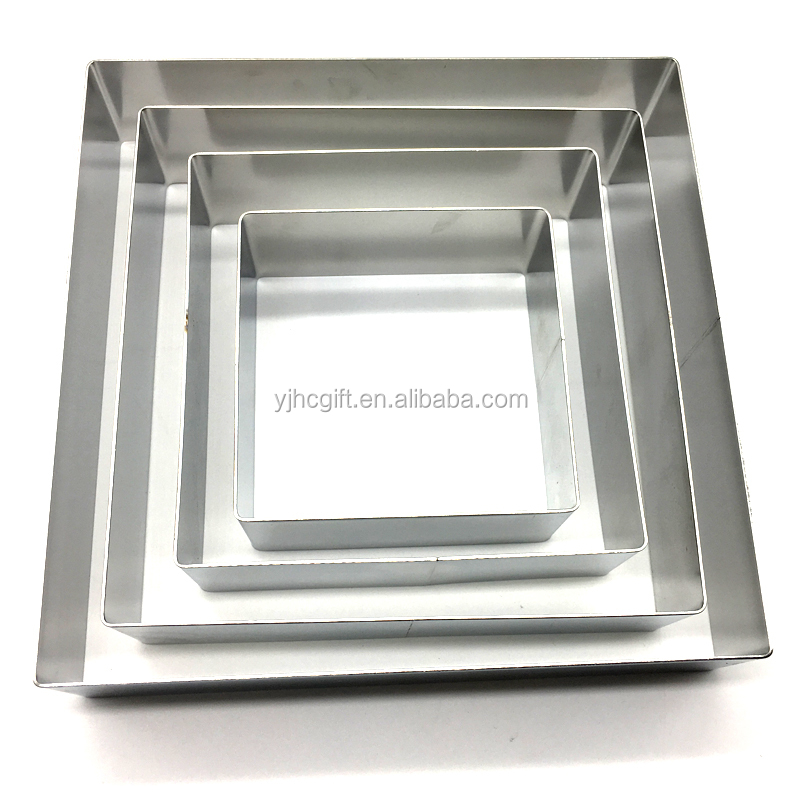 square mousse cake mold Stainless steel mousse cake mold