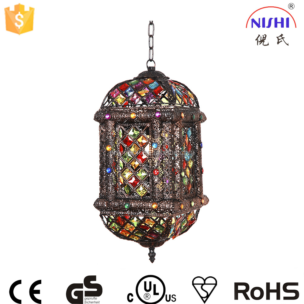 wholesale alibaba colorful moroccan lantern CE approved moroccan brass lantern for weddings/christmas decoration NS-124010