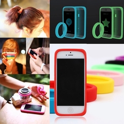 Elastic Luminous Common Use Bumper Phone Case for iPhone for Samsung for HTC Wristband Hair Rope Bracelet