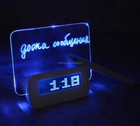 Charming memo board with LCD light and Highlighter, Star Light Alarm Clock with 4 Ports USB Hub
