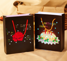 Paper Gift Bags Shopping Bag LED Light Up Bags Promotional