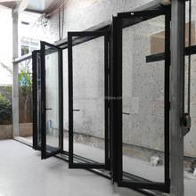 Ultra wide entry glass panels aluminum folding door with double glazing SGCC glass by Chinese supplier