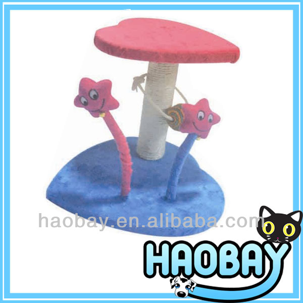 Double Heart and Stars Scratching Post Lovely Series Modern Cat Tree Toy