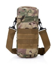 Multicam Camo Tactical Water Bottle Holder Molle Sports Military Drinking Water Bottle Carrier Sling Bag