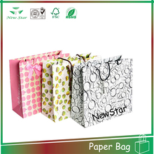 wholesale cheap little polka dot paper bag,gift paper bag